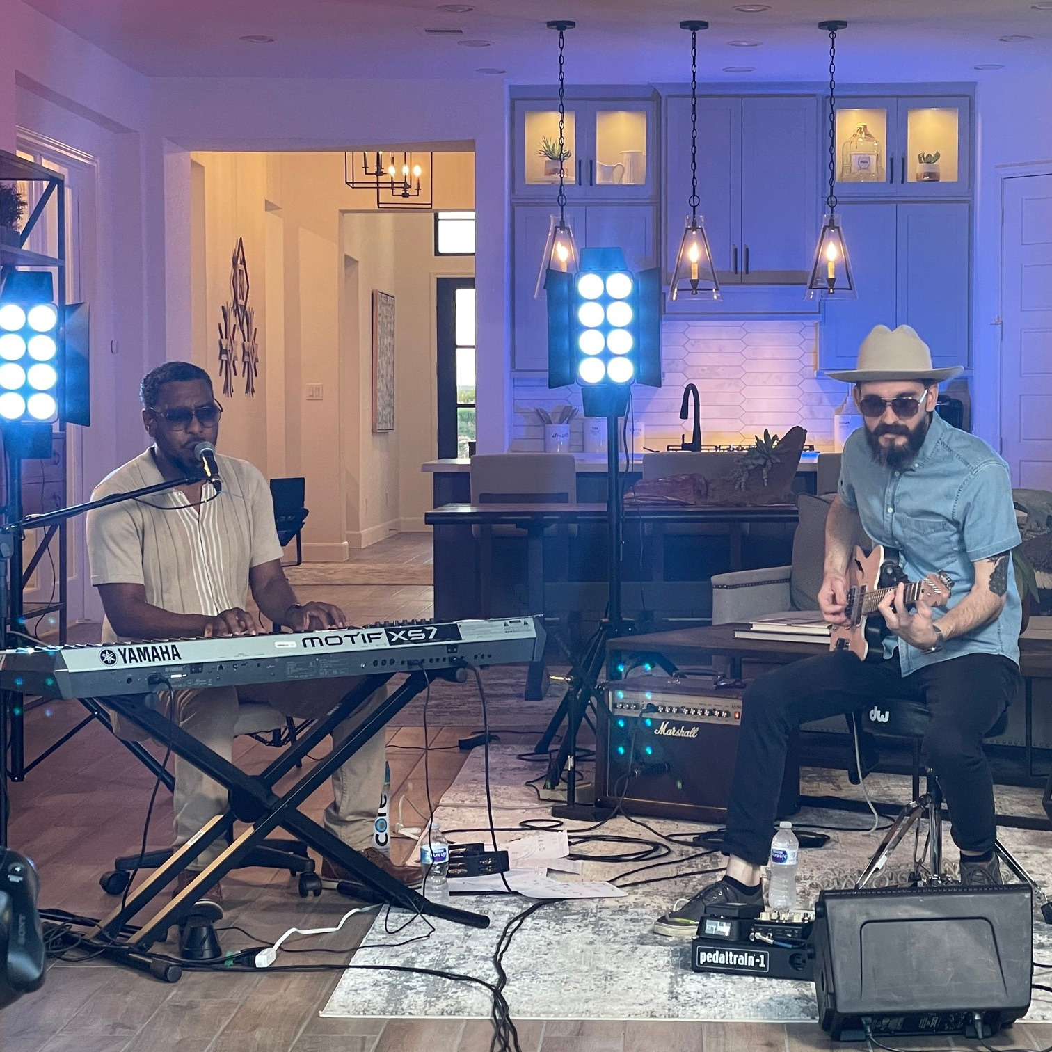 Tomar and the FC performs live at the Perry Homes Veramendi Model Home