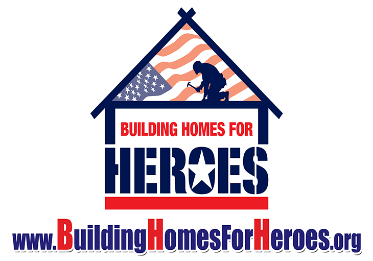 Building Homes for Heroes red and blue logo.