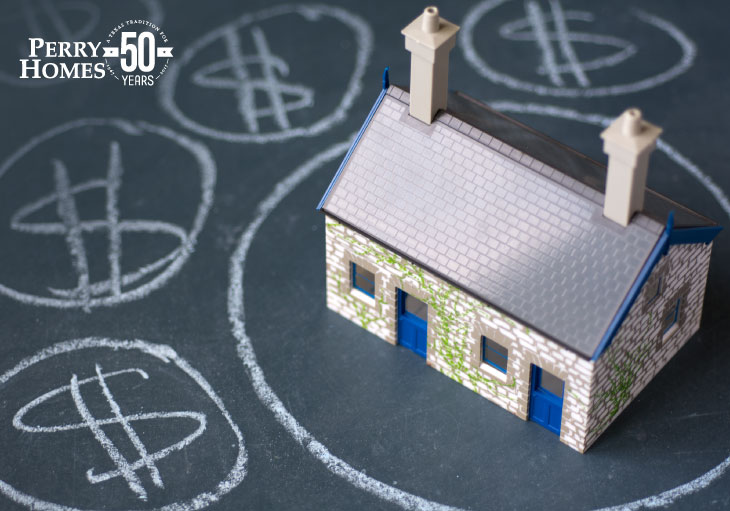 image of a toy house surrounded by dollar signs