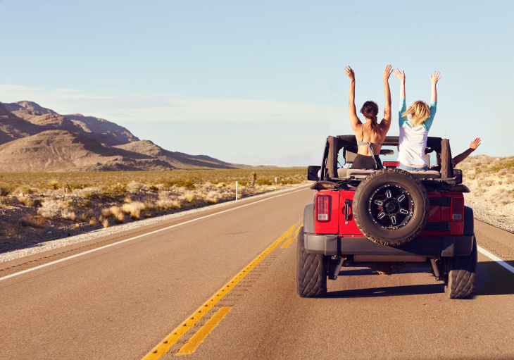 Texas road trip on a Jeep